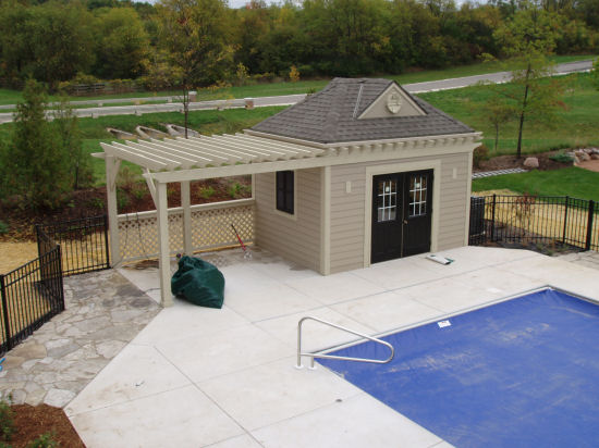 Pool houses by j j construction for Pool house designs